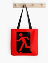 Running Man Exit Sign Tote Shoulder Carry Bag 43