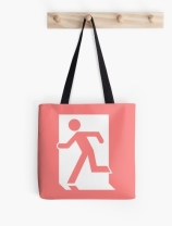 Running Man Exit Sign Tote Shoulder Carry Bag 44