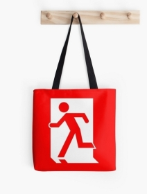 Running Man Exit Sign Tote Shoulder Carry Bag 45