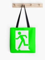 Running Man Exit Sign Tote Shoulder Carry Bag 47