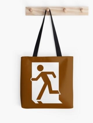Running Man Exit Sign Tote Shoulder Carry Bag 48