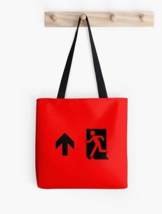 Running Man Exit Sign Tote Shoulder Carry Bag 49