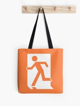 Running Man Exit Sign Tote Shoulder Carry Bag 50