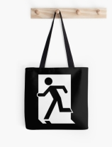 Running Man Exit Sign Tote Shoulder Carry Bag 51