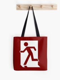 Running Man Exit Sign Tote Shoulder Carry Bag 52