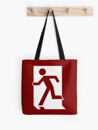 Running Man Exit Sign Tote Shoulder Carry Bag 52