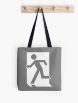Running Man Exit Sign Tote Shoulder Carry Bag 53