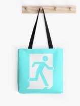 Running Man Exit Sign Tote Shoulder Carry Bag 54