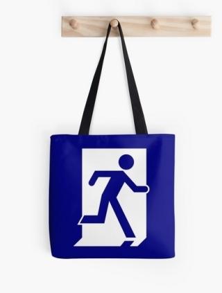 Running Man Exit Sign Tote Shoulder Carry Bag 55