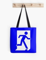 Running Man Exit Sign Tote Shoulder Carry Bag 56
