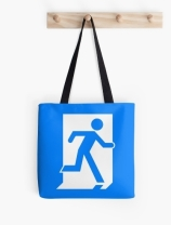 Running Man Exit Sign Tote Shoulder Carry Bag 57