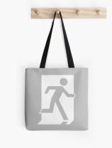 Running Man Exit Sign Tote Shoulder Carry Bag 58