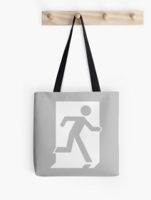 Running Man Exit Sign Tote Shoulder Carry Bag 58