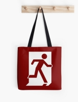 Running Man Exit Sign Tote Shoulder Carry Bag 59