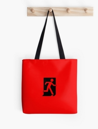 Running Man Exit Sign Tote Shoulder Carry Bag 60