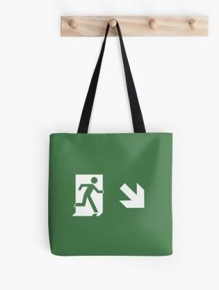 Running Man Exit Sign Tote Shoulder Carry Bag 6