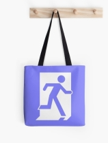 Running Man Exit Sign Tote Shoulder Carry Bag 61
