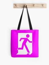 Running Man Exit Sign Tote Shoulder Carry Bag 62