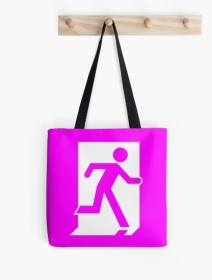Running Man Exit Sign Tote Shoulder Carry Bag 62