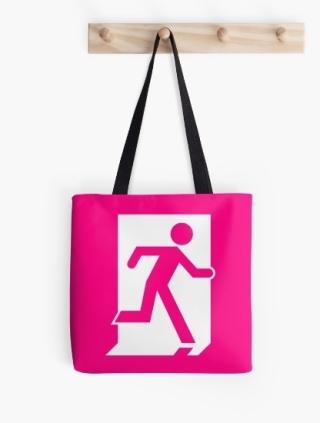 Running Man Exit Sign Tote Shoulder Carry Bag 63