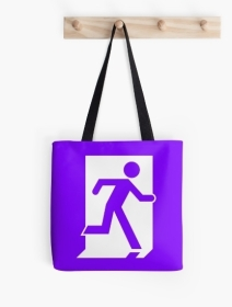 Running Man Exit Sign Tote Shoulder Carry Bag 64
