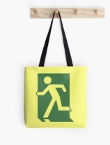 Running Man Exit Sign Tote Shoulder Carry Bag 65