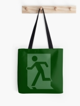Running Man Exit Sign Tote Shoulder Carry Bag 66