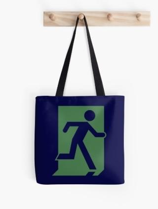 Running Man Exit Sign Tote Shoulder Carry Bag 67