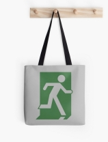 Running Man Exit Sign Tote Shoulder Carry Bag 68