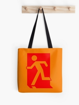 Running Man Exit Sign Tote Shoulder Carry Bag 69