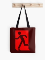 Running Man Exit Sign Tote Shoulder Carry Bag 70