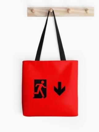 Running Man Exit Sign Tote Shoulder Carry Bag 71