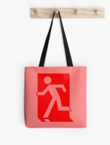Running Man Exit Sign Tote Shoulder Carry Bag 72