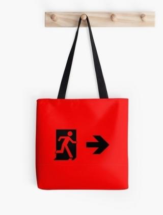 Running Man Exit Sign Tote Shoulder Carry Bag 75