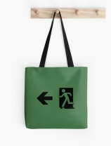 Running Man Exit Sign Tote Shoulder Carry Bag 76