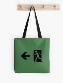 Running Man Exit Sign Tote Shoulder Carry Bag 76