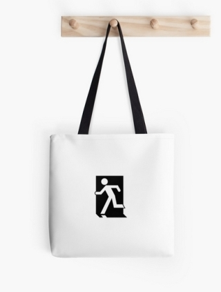 Running Man Exit Sign Tote Shoulder Carry Bag 78