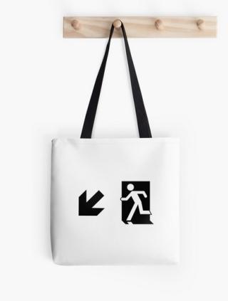 Running Man Exit Sign Tote Shoulder Carry Bag 80