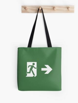 Running Man Exit Sign Tote Shoulder Carry Bag 8