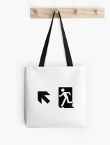 Running Man Exit Sign Tote Shoulder Carry Bag 81
