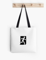 Running Man Exit Sign Tote Shoulder Carry Bag 84