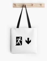 Running Man Exit Sign Tote Shoulder Carry Bag 85