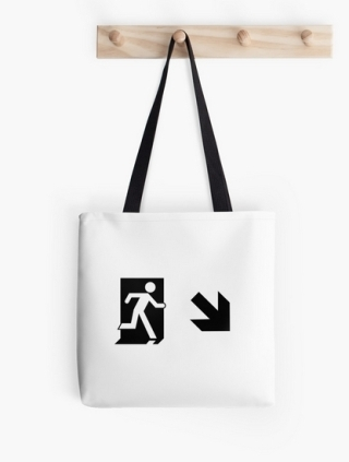 Running Man Exit Sign Tote Shoulder Carry Bag 86