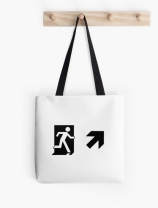 Running Man Exit Sign Tote Shoulder Carry Bag 88