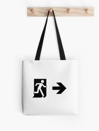 Running Man Exit Sign Tote Shoulder Carry Bag 89Running Man Exit Sign Tote Shoulder Carry Bag 89