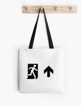 Running Man Exit Sign Tote Shoulder Carry Bag 90