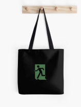 Running Man Exit Sign Tote Shoulder Carry Bag 91