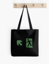 Running Man Exit Sign Tote Shoulder Carry Bag 94