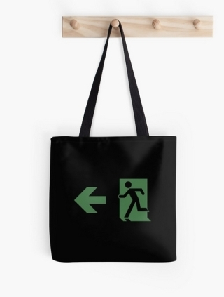Running Man Exit Sign Tote Shoulder Carry Bag 95
