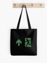 Running Man Exit Sign Tote Shoulder Carry Bag 96